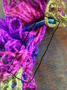 Backside Crocheted