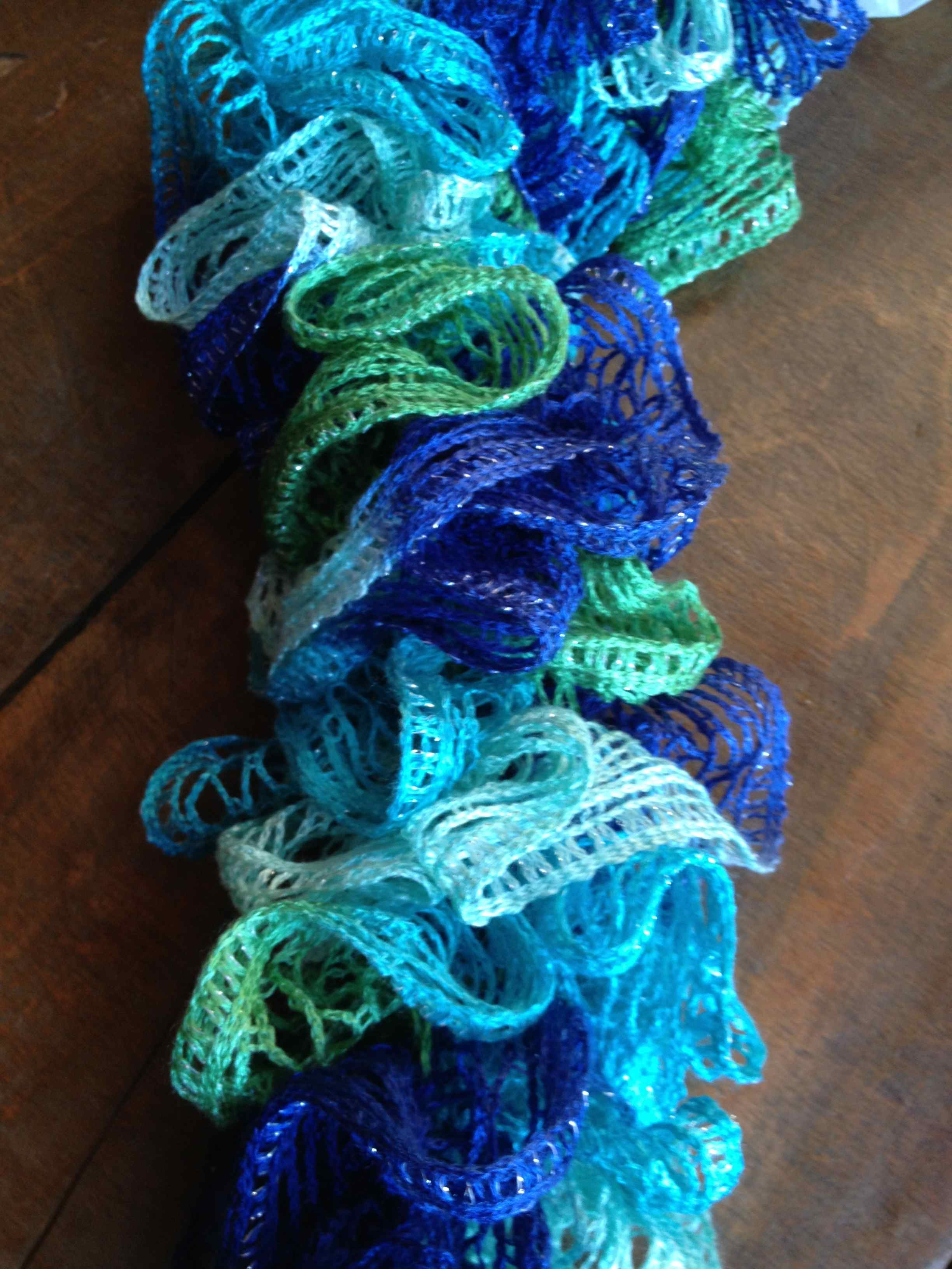Crocheting Ruffle Scarf : If youre the site owner , log in to launch this site.