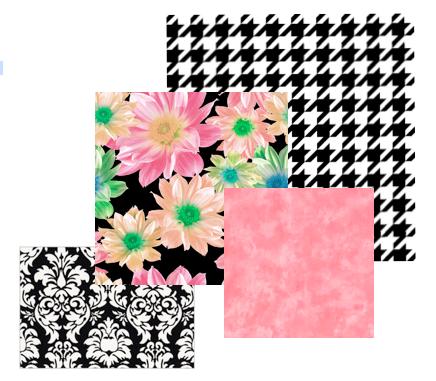 4 Fabric Prints