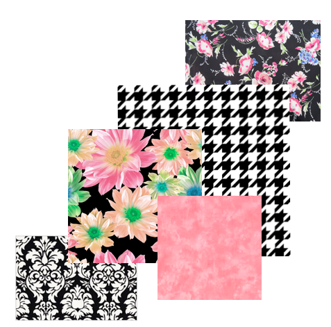 5 Fabric Prints