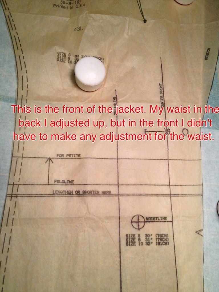 Center Front Waist - Notes
