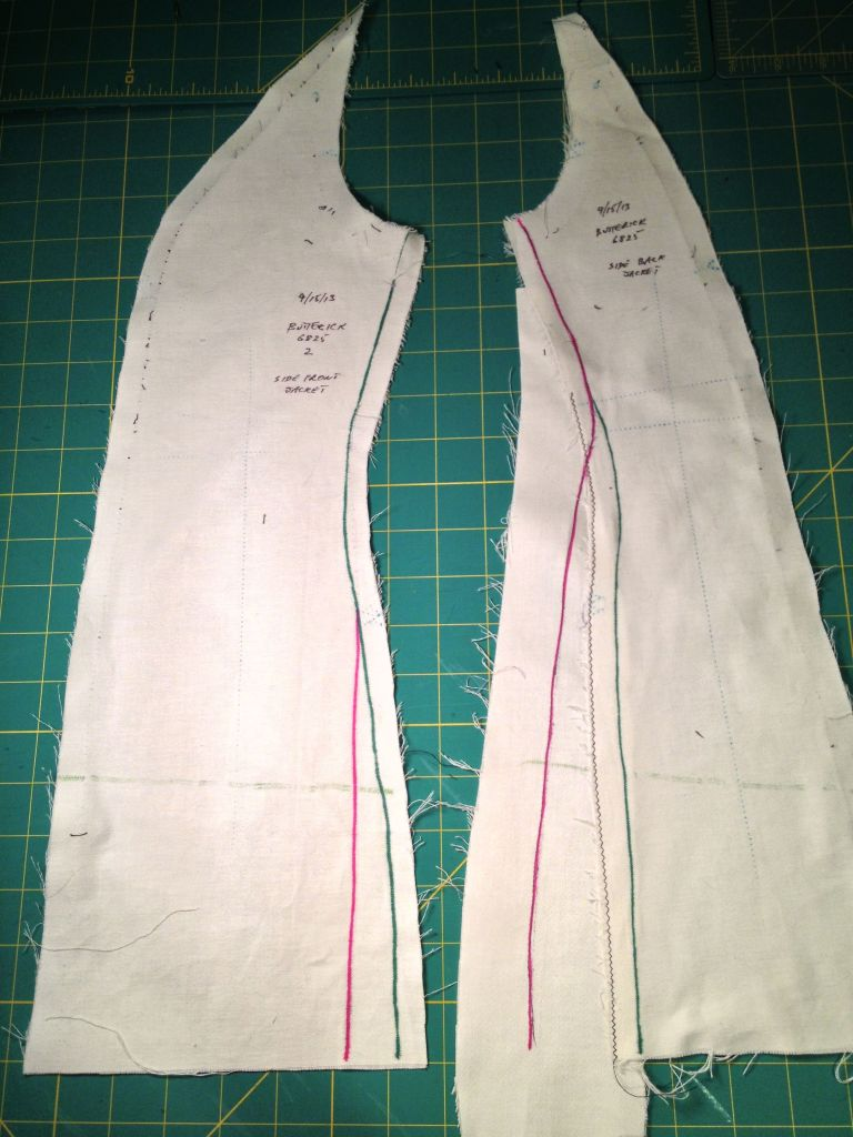 Muslin Side Vertical Seam Changes