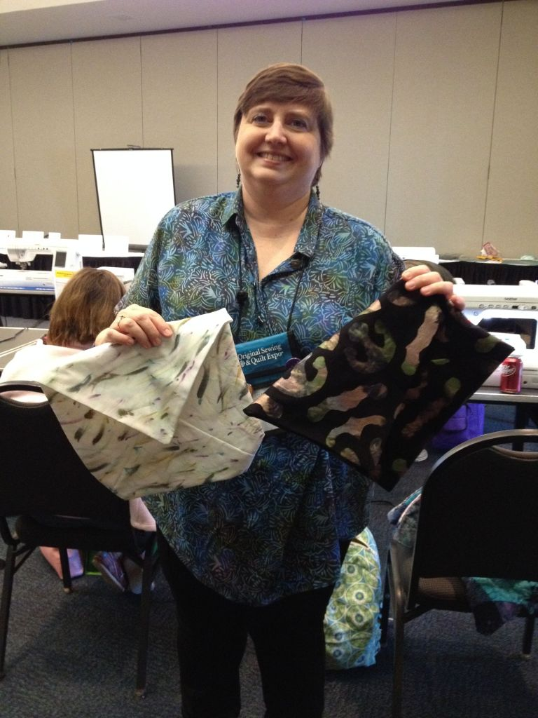 Laurie with her finished Clutches.