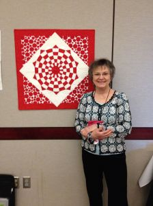 Debby Kratovil and her Modern Vortex Quilt