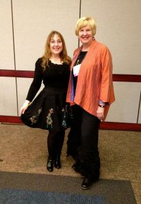 My new friend, Diane Gloystein and I