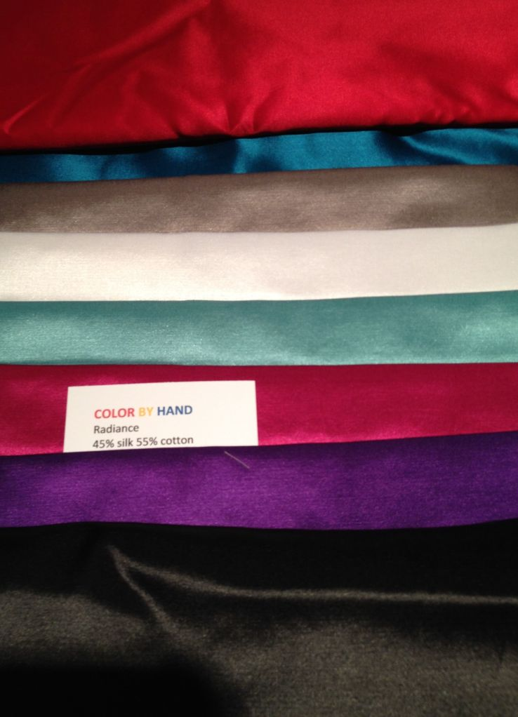 Radiance fabric I purchased, 45% silk 55% cotton