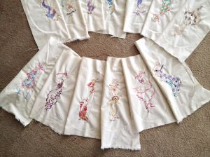 Back of the skirt embroidery layout.