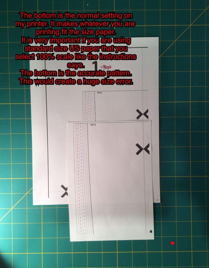 Printed Explanation