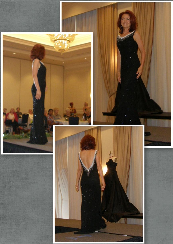 J Black gown